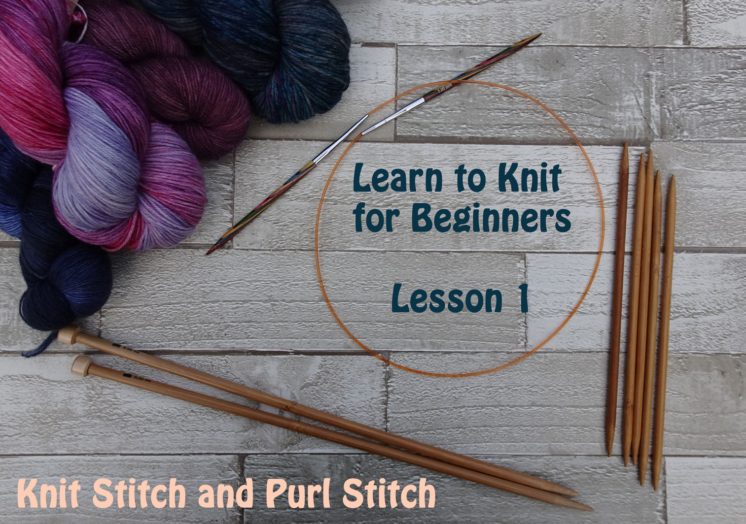 How To Knit Purl Stitch For Beginners : learn-to-knit-for-beginners,-lesson-1 Jo-Creates