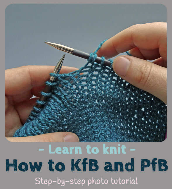 how to knit front and back kfb and purl front and back pfb jo creates. Black Bedroom Furniture Sets. Home Design Ideas